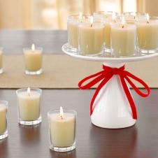 Свечи арамотизированные в стеклянных стаканчиках
