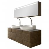 AM PM Amreica - подвесной комплект мебели для ванной. С зеркальным шкафом и умывальником.